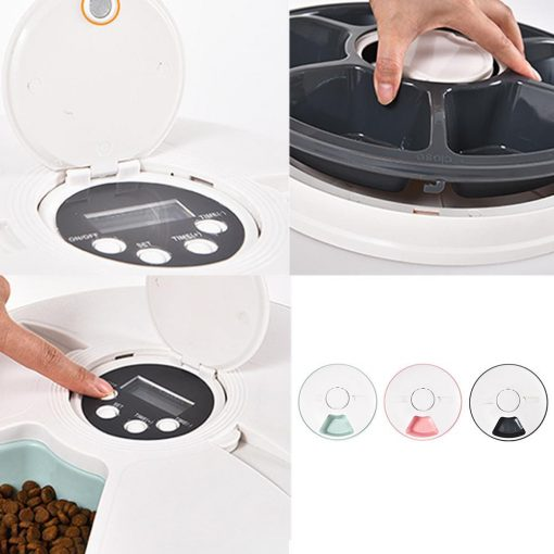 Automatic Pet Timing Feeder, timed cat feeder operation