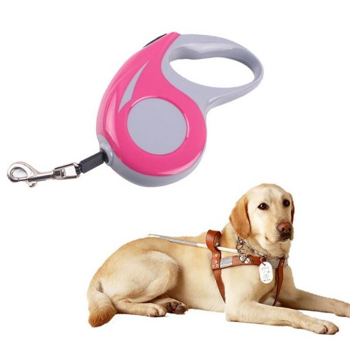 Kong leash Automatic Retractable Dog Leash - Pink 5M with dog