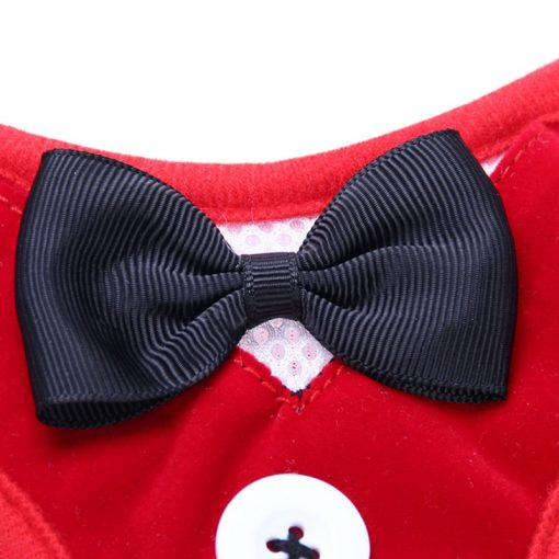 Puppy collars Dog Clothes Vest Dog Leashes red color