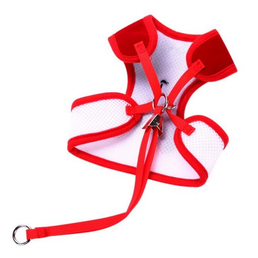 Puppy collars Dog Clothes Vest Dog Leashes red color show