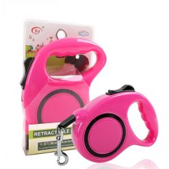 Automatic Retractable dog pulling on leash pink kits