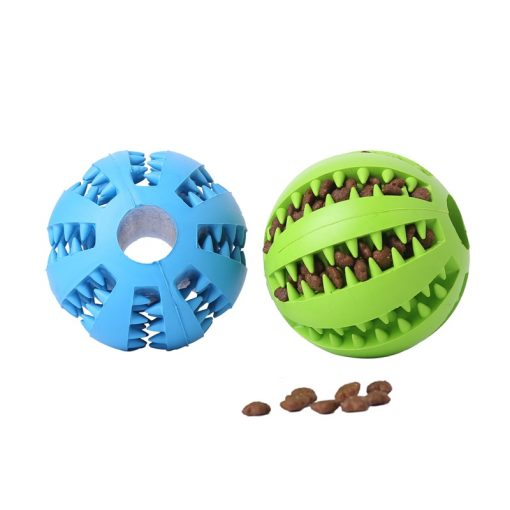 Dog chew toys dog balls blue color and green color