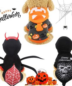 Pet Dog Clothes Halloween Funny Dog spider costume