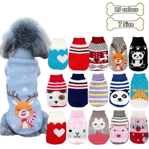 Winter Cartoon Dog Sweaters all size all color