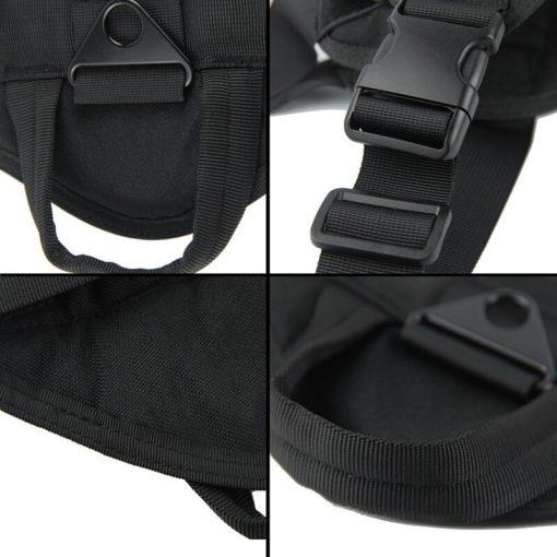 Service Dog Vest Black color detail