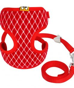 Mesh Cat Harness red color
