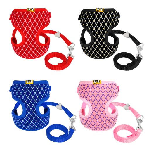 Mesh Cat Harness puppy harness and Leash Set 4 color