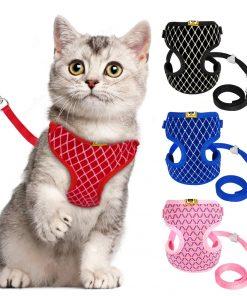 Mesh Cat Harness and Leash Set
