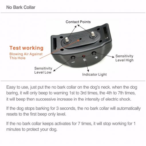 Dog Bark Collar detail guider