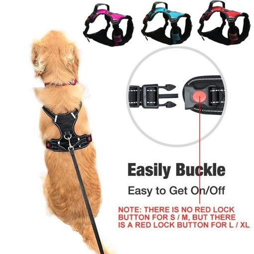 No pull dog harness easy buckle