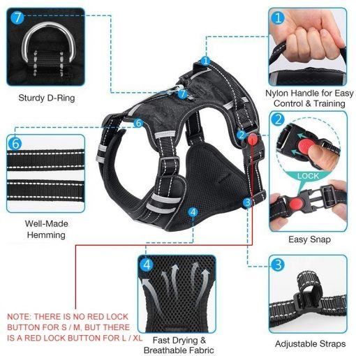 No pull dog harness guider
