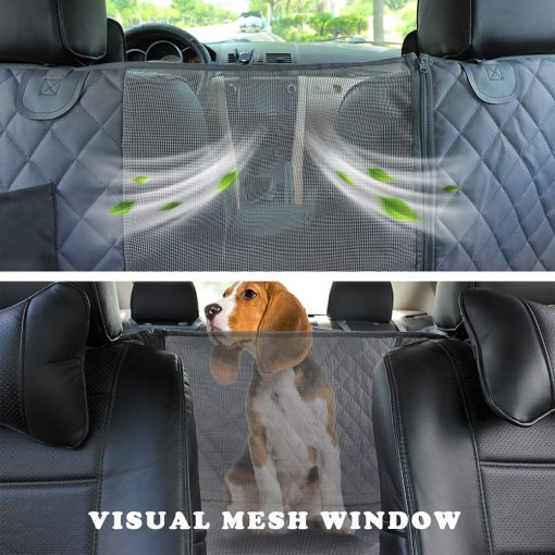 Dog car seat covers with safety belt Kit detail on car