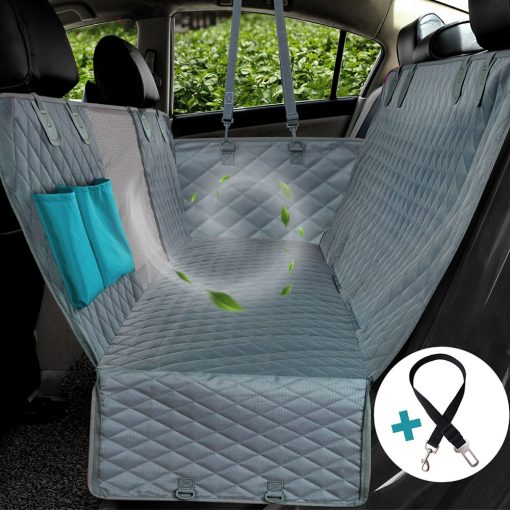 Dog car seat covers with safety belt Kit show 2