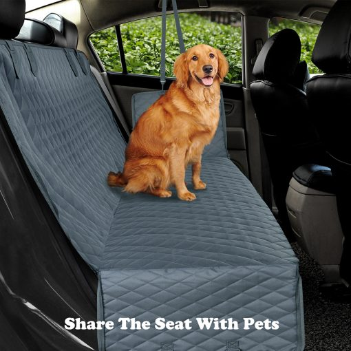 Dog car seat covers with safety belt Kit on car