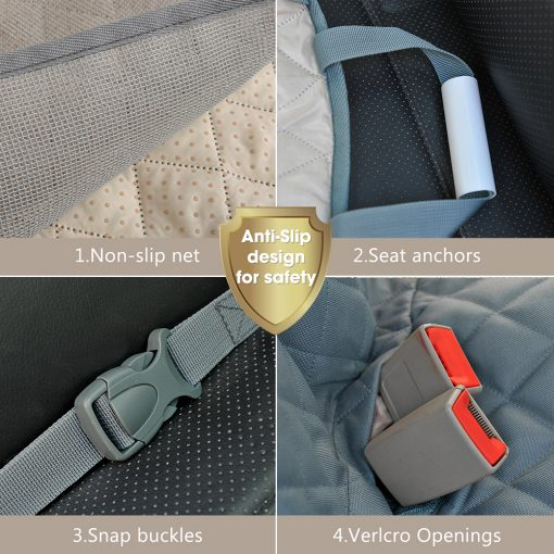 Dog car seat covers with safety belt Kit detail