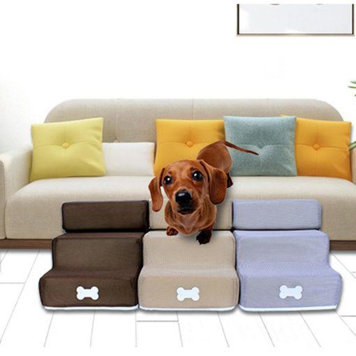 Dog steps for bed show detail