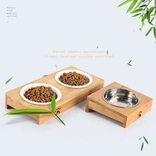 Elevated dog bowls show