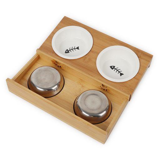 Elevated dog bowls spec detail