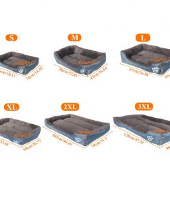 waterproof dog bed size guider