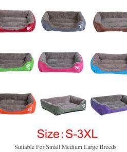 waterproof dog bed color