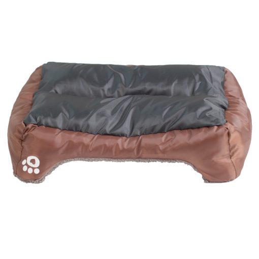 waterproof dog bed brown color